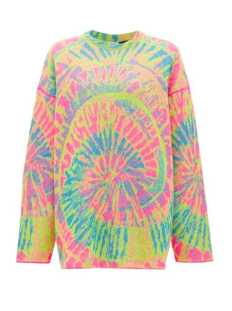 Loewe Paula's Ibiza - Psychedelic-jacquard Mohair-blend Sweater - Womens - Multi