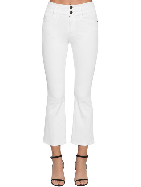 FRAME Le Crop Mini Booth Cotton Denim Jeans in white
