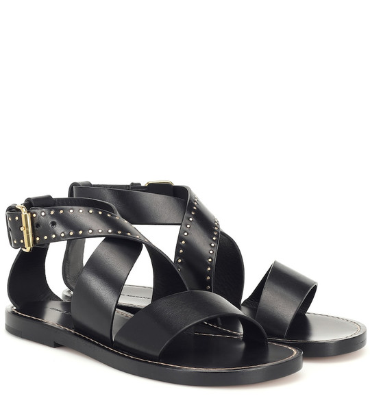 Isabel Marant Juzee leather sandals in black