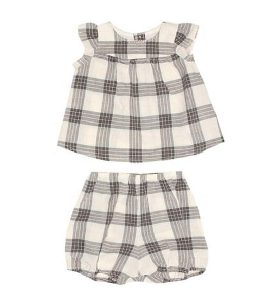 Bonpoint Lilou blouse and bloomers set in beige