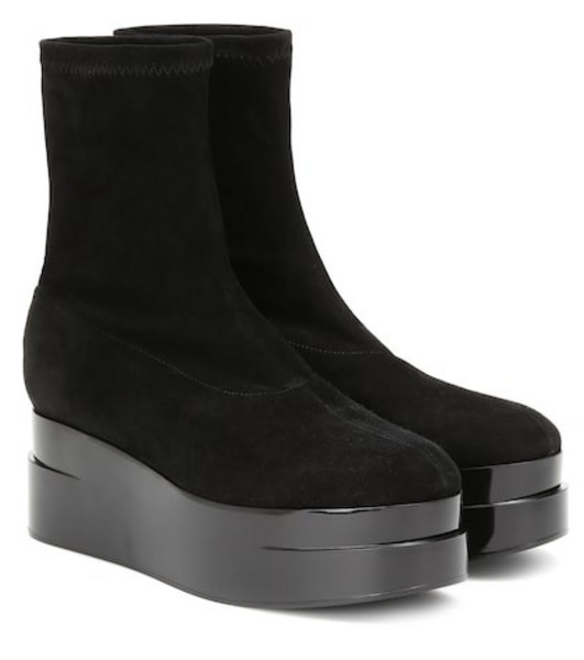 Clergerie Laissa 2 suede ankle boots in black