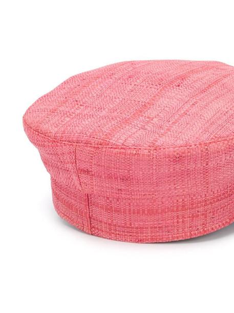 Ruslan Baginskiy paper boy straw hat in pink