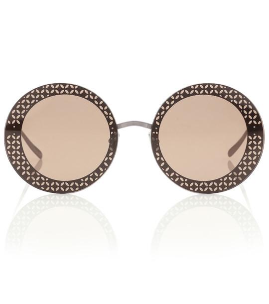 Alaïa Round sunglasses in brown
