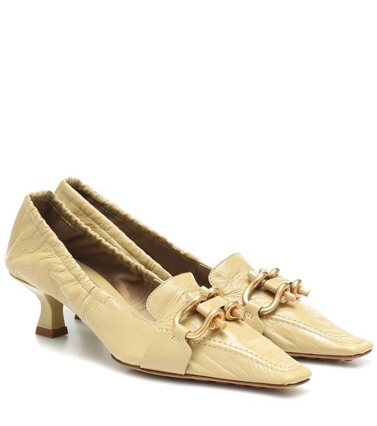 Bottega Veneta BV Madame leather pumps in beige