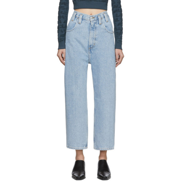 Eckhaus Latta Blue Baggy Jeans
