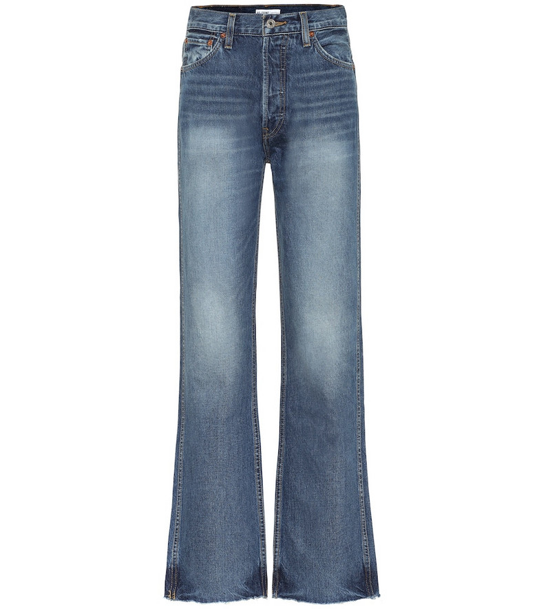 Re/Done High-rise loose jeans in blue