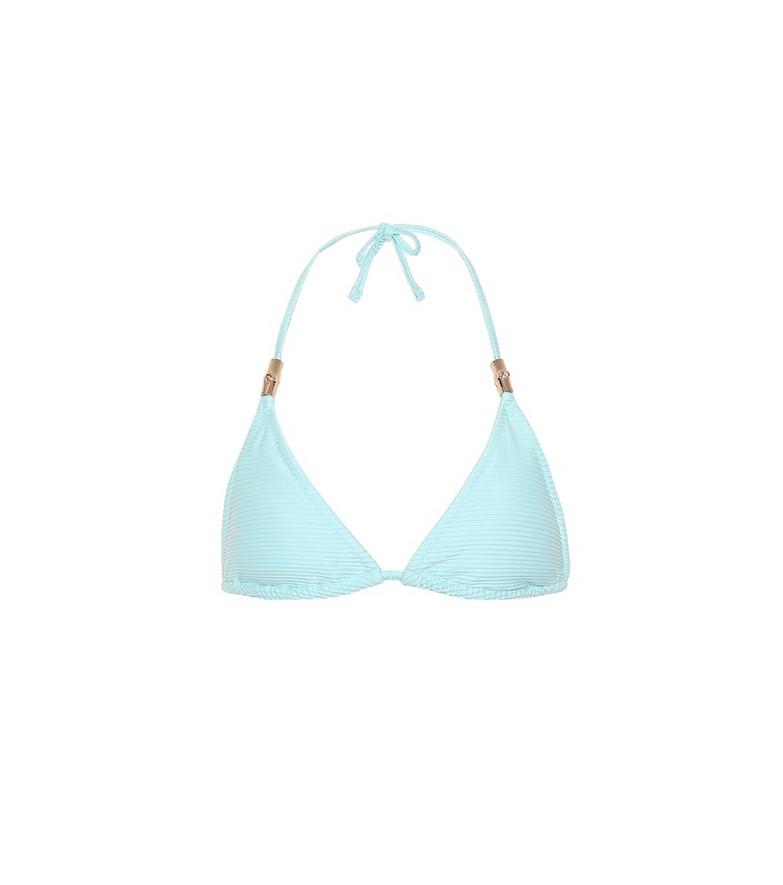 Heidi Klein Marseille triangle bikini top in blue
