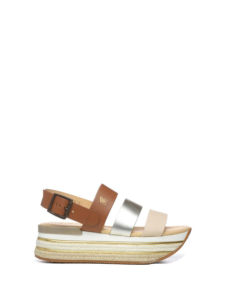 Hogan Hogan H222 Platform Sandals in bianco