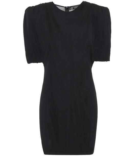 Versace Jersey minidress in black