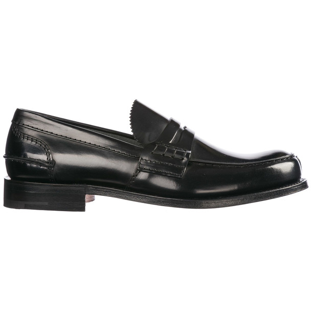Church's Men's Leather Loafers Moccasins Tunbridge in black