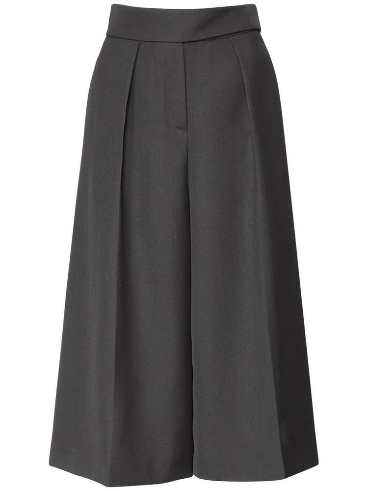 ALEXANDRE VAUTHIER Cropped Grain De Poudre Wide Leg Pants in black