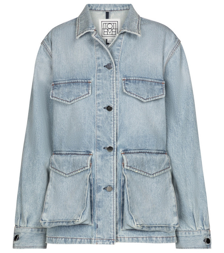 Toteme Exclusive to Mytheresa – Denim cargo jacket in blue