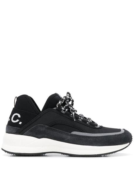 A.P.C. A.P.C. logo print sneakers - Black