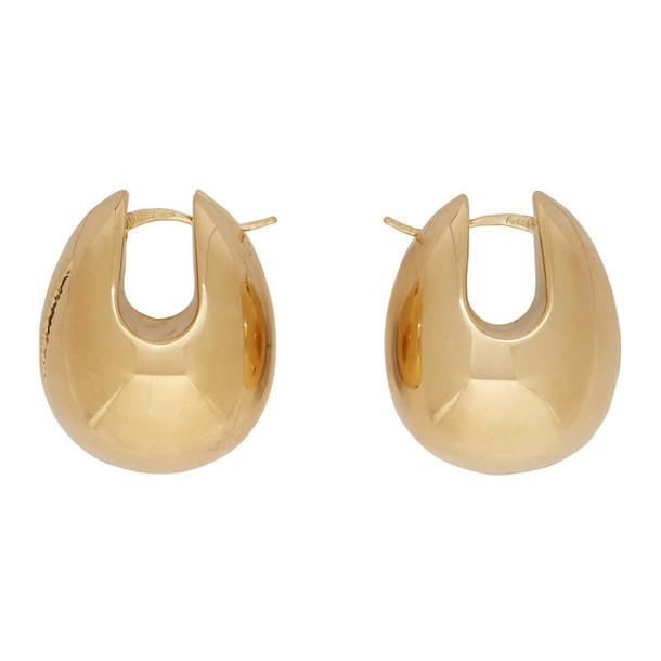 Bottega Veneta Gold Oversized Egg Earrings