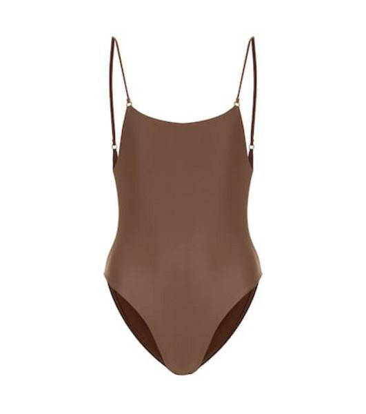 Jade Swim Hinge swimsuit in brown