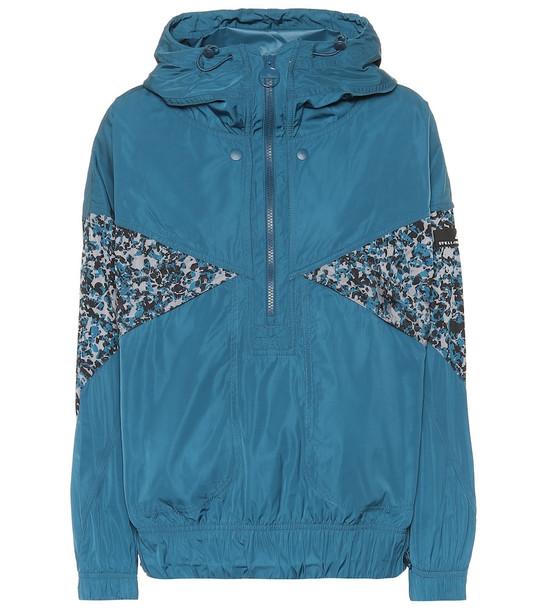 Adidas by Stella McCartney Light technical shell jacket in blue