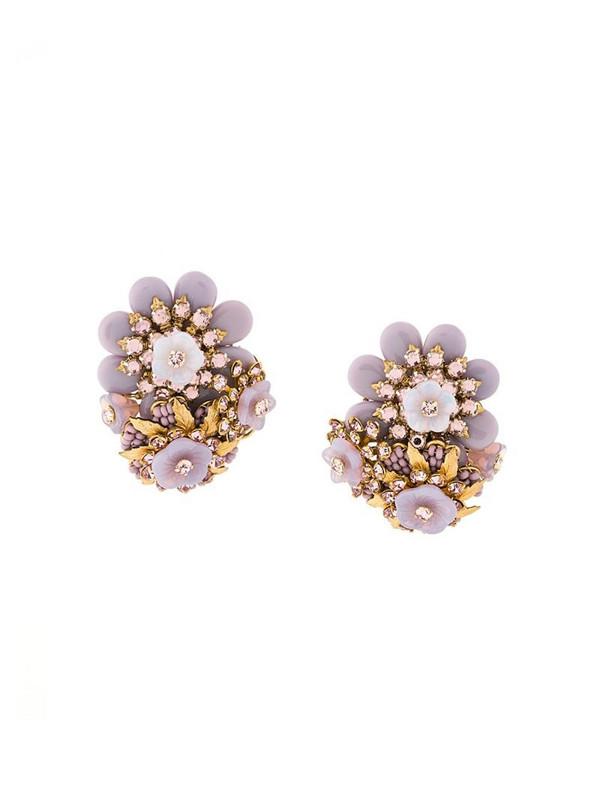 Rewind Vintage Affairs 1970' floral earrings in pink