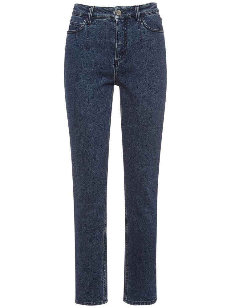 ALBERTA FERRETTI Stretch Cotton Denim Skinny Fit Jeans in blue