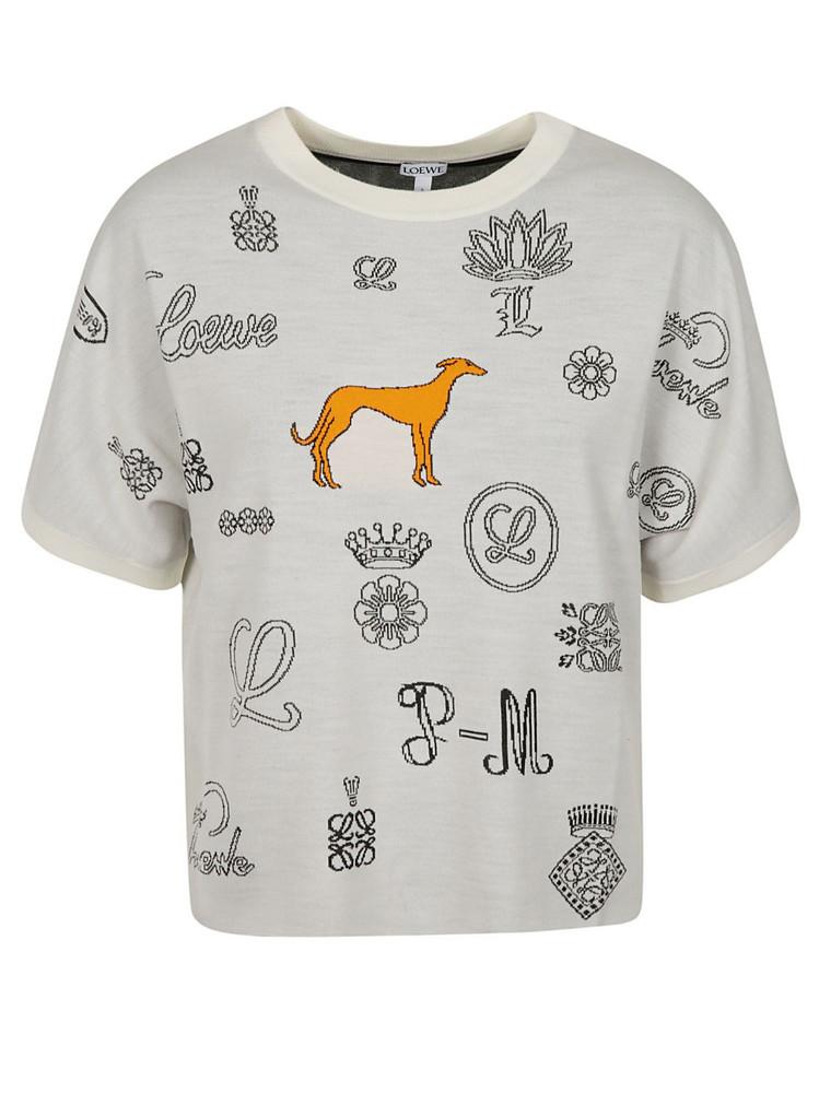 Loewe Jacquard Logo T-shirt in white