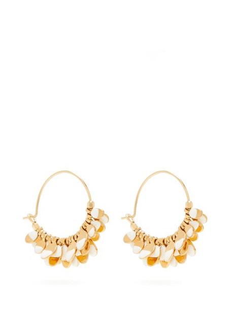 Isabel Marant - New Leaves Hoop Earrings - Womens - White