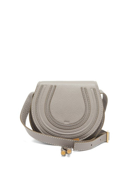 Chloé Chloé - Marcie Mini Grained-leather Cross-body Bag - Womens - Grey
