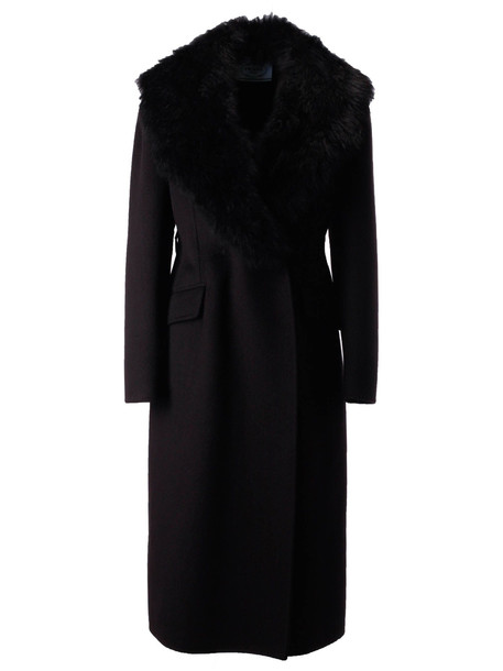 Prada Fur Coat in nero