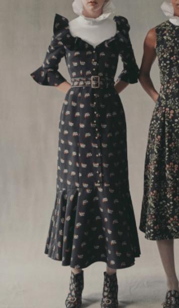 Erdem Opaline Dress in black