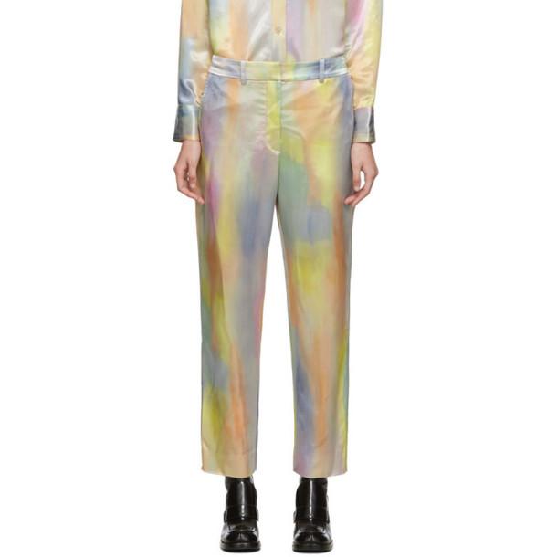 Sies Marjan Multicolor Satin Willa Cropped Trousers in multi