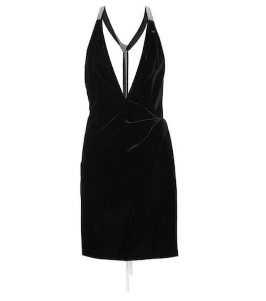 Saint Laurent Velvet minidress in black
