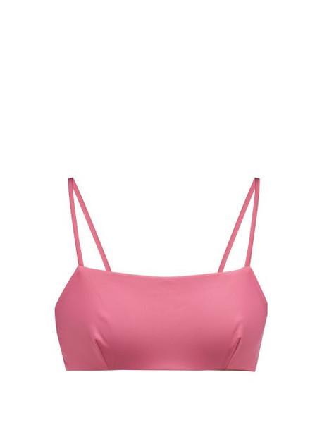 Casa Raki - Ana Tie Back Bikini Top - Womens - Dark Pink