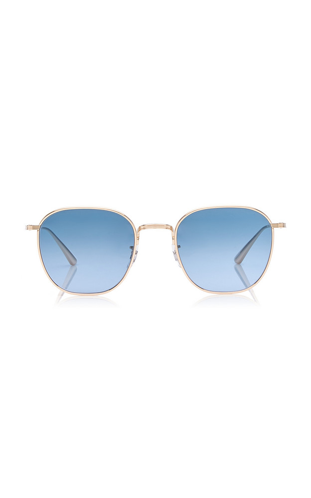 Oliver Peoples THE ROW Board Meeting 2 Square-Frame Metal Sunglasses in blue