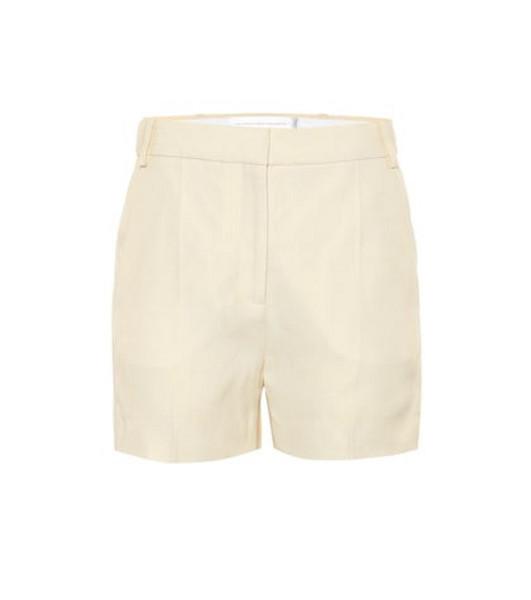 Victoria Victoria Beckham Tailored linen-blend shorts in beige