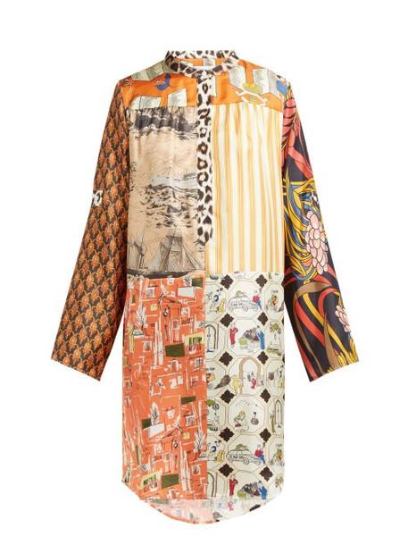 La Prestic Ouiston - Silk Twill Multi Print Dress - Womens - Multi