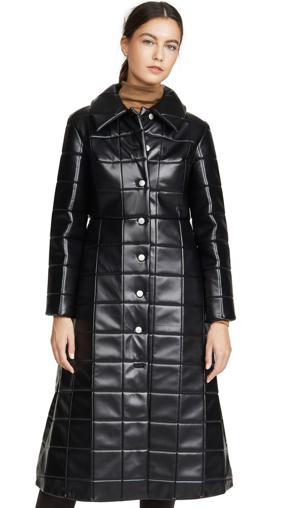 A.W.A.K.E MODE Miss Roboto Coat in black