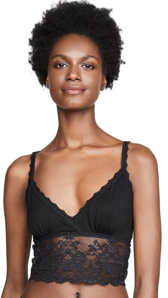 Hanky Panky Modal Lace Longline Bra in black