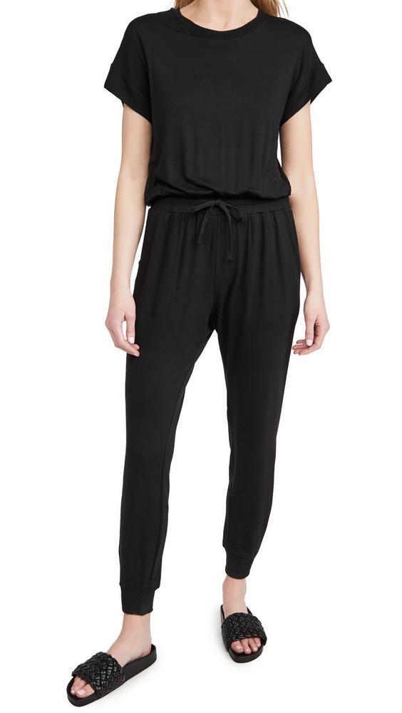 Splendid Flora Jumpsuit in black