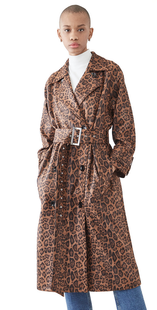 STAND STUDIO Shelby Trench in brown