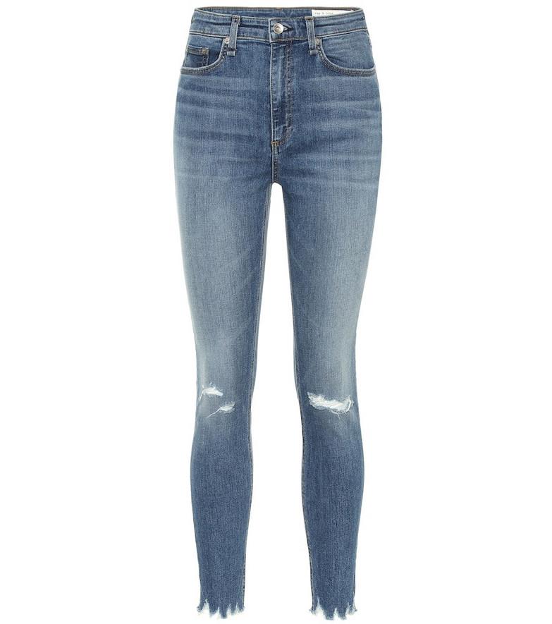 Rag & Bone Nina high-rise skinny jeans in blue