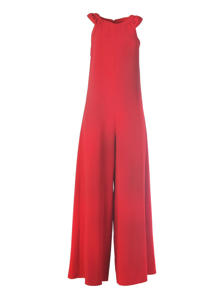 925a08427d RED Valentino Jumpsuit With Ruches On The Shoulder And Zip On The  Back tecno Fluido