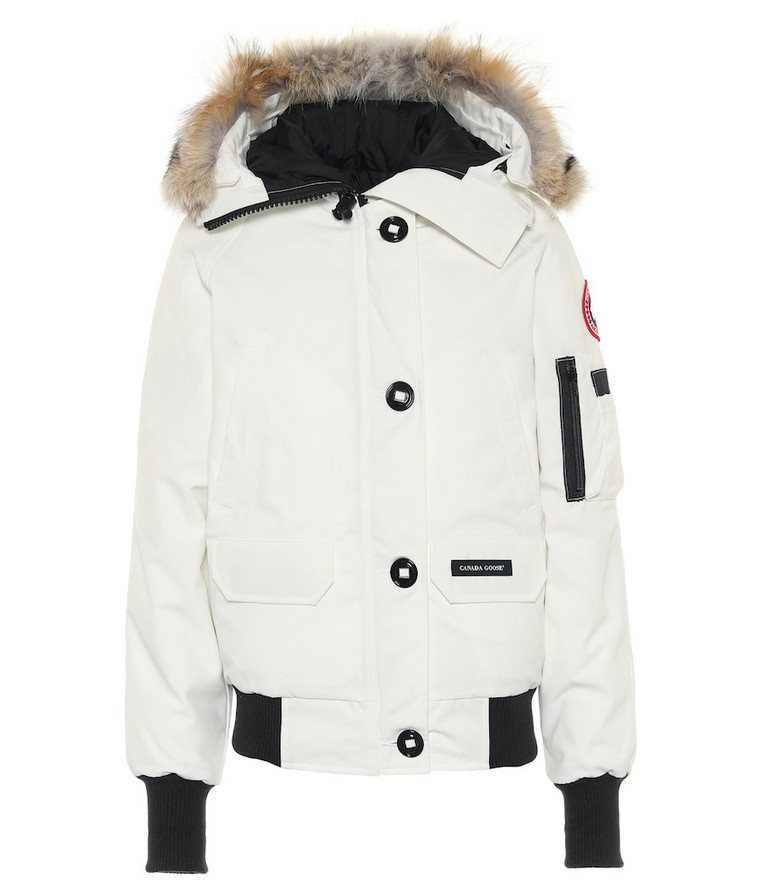 Canada Goose Chilliwack fur-trimmed down parka in white