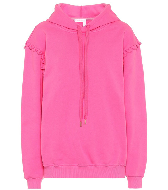 See By Chloé Cotton hoodie in pink