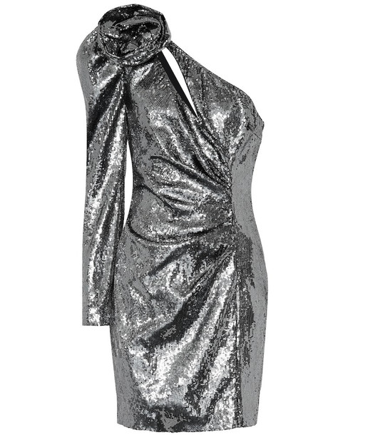 Dundas Sequinned minidress in silver
