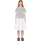 dress,white,knit,grey