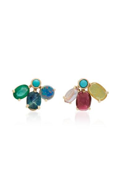 SCOSHA 14K Gold And Multi-Stone Earrings