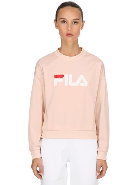 FILA URBAN Justina Sweatshirt W/snap Buttons in pink