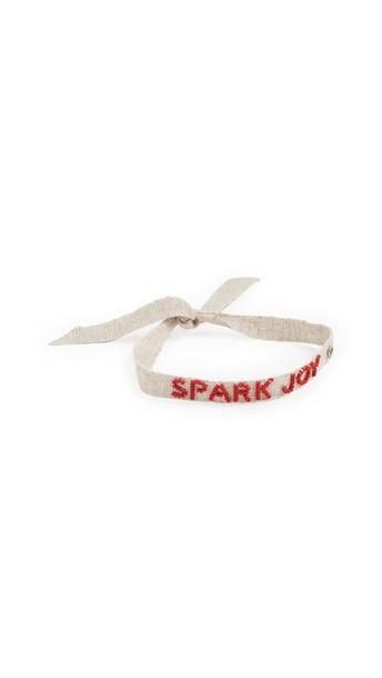 Roxanne Assoulin Spark Joy Tie One On Bracelet in tan / red