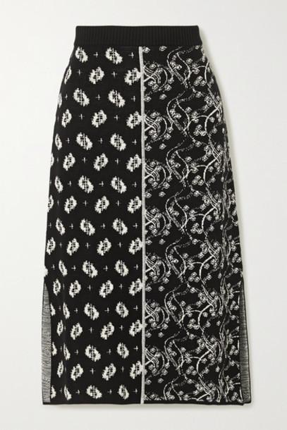 KENZO - Jacquard-knit Midi Skirt - Black