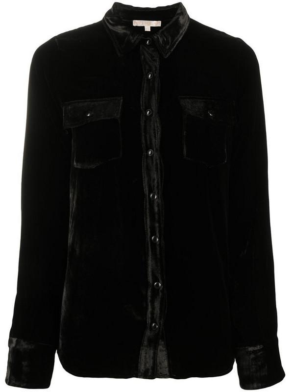 Gold Hawk chest-pocket longsleeved shirt in black