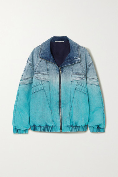Stella McCartney - Ombré Denim Jacket - Blue