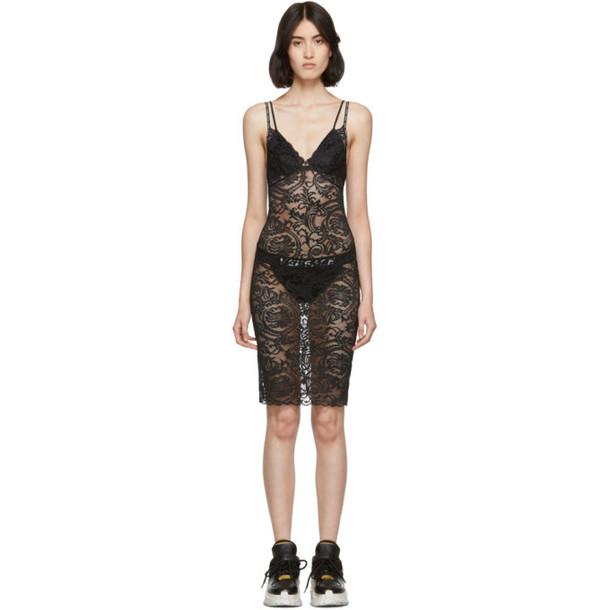 Versace Underwear Black Lace Night Dress